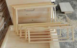 Конструирование рамок для пчел
