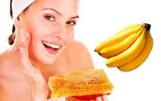 Укрепляющие и восстанавливающие маски с бананом и медом для лица и волос